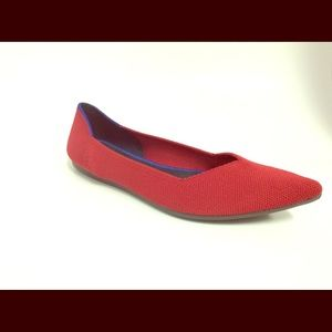 Rothy's Red Pointed Flat Shoes Size EU 44